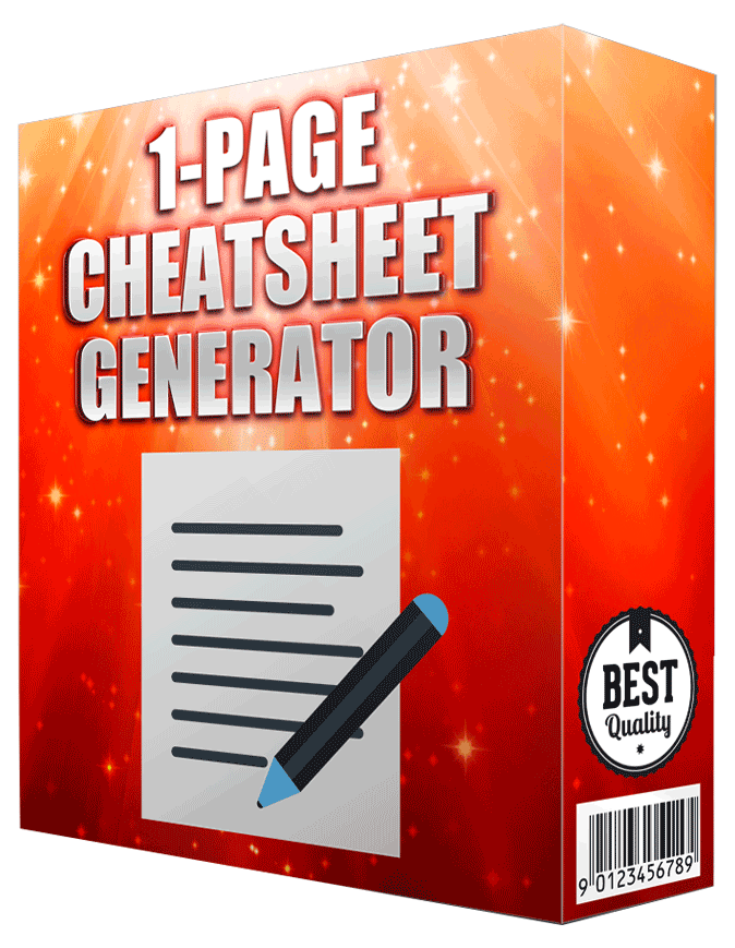 The Official Cheatsheet Generator discount coupon
