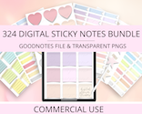 Digital Stickers Bundle Commercial Use discount coupon